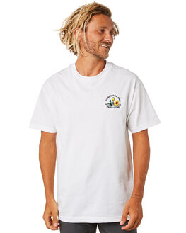 WHITE MENS CLOTHING PASS PORT TEES - PPDINNERWHT