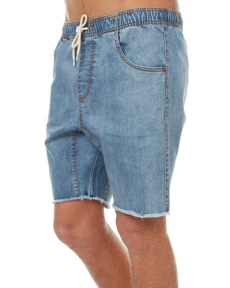 THRIFTED BLUE MENS CLOTHING RUSTY SHORTS - WKM0784THB