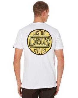 WHITE MENS CLOTHING DEUS EX MACHINA TEES - DMW91994BWHT