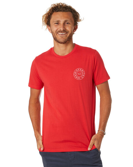 BRIGHT RED MENS CLOTHING RIP CURL TEES - CTEON24851