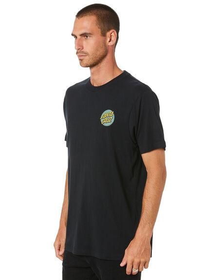 BLACK MENS CLOTHING SANTA CRUZ TEES - SC-MTD0910BLK