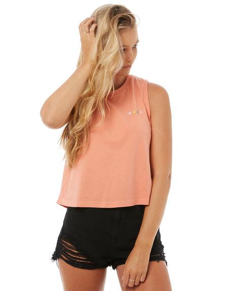 TERRACOTTA WOMENS CLOTHING RVCA SINGLETS - R283664TERR