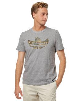 HEATHER MENS CLOTHING ADIDAS ORIGINALS TEES - BR4976HTHR