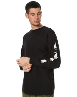 BLACK MENS CLOTHING CAPTAIN FIN CO. TEES - CT172102BLK