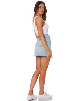 TRASHED BLUE WOMENS CLOTHING INSIGHT SKIRTS - 1000084093BLU
