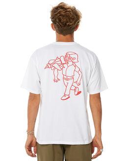 WHITE MENS CLOTHING POLAR SKATE CO. TEES - RKTMANWHT