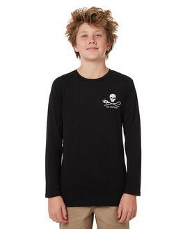 BLACK KIDS BOYS SEA SHEPHERD TEES - SSA863ABLK