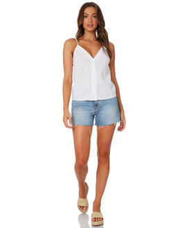 WHITE WOMENS CLOTHING NUDE LUCY FASHION TOPS - NU23764WHI