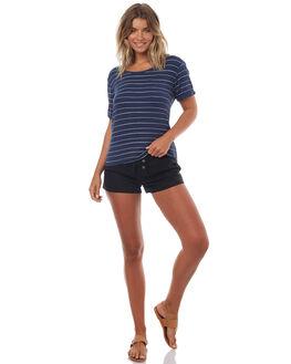 DRESS BLUES PENCIL WOMENS CLOTHING ROXY TEES - ERJKT03330BTK3
