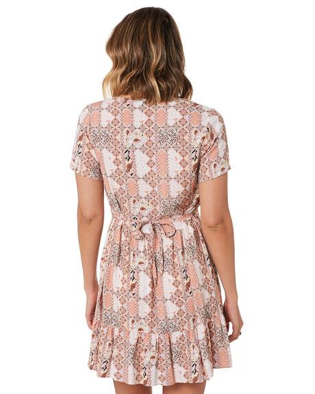 SUNSET PEACH WOMENS CLOTHING RUSTY DRESSES - DRL1054-STP