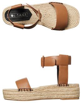 TAN WOMENS FOOTWEAR SOL SANA FASHION SANDALS - SS172S385TAN