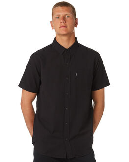 BLACK MENS CLOTHING RIP CURL SHIRTS - CSHKK10090