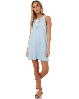 LIGHT INDIGO WOMENS CLOTHING ELWOOD DRESSES - W73716INDIG