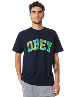 NAVY MENS CLOTHING OBEY TEES - 166912066NVY