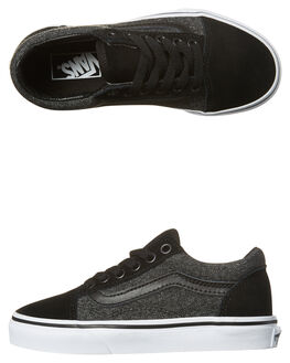 BLACK KIDS BOYS VANS SNEAKERS - VN-A38HBOSNBLK