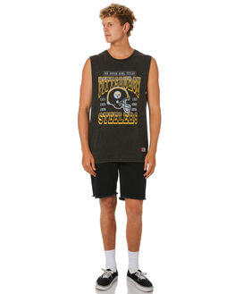 STEELERS BLACK MENS CLOTHING MAJESTIC SINGLETS - MPS7274DBBLK
