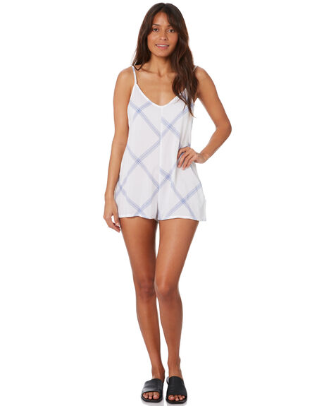 WHITE WOMENS CLOTHING RUSTY PLAYSUITS + OVERALLS - SCL0346WHT