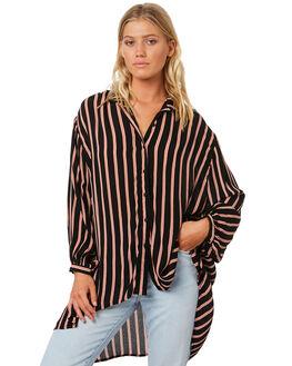 BLACK WOMENS CLOTHING BILLABONG FASHION TOPS - 6595108BLK
