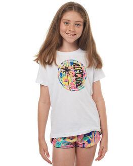 WHITE KIDS GIRLS RIP CURL TEES - JTECR11000