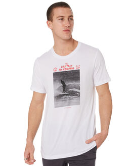 WHITE MENS CLOTHING CAPTAIN FIN CO. TEES - CT192001WHT