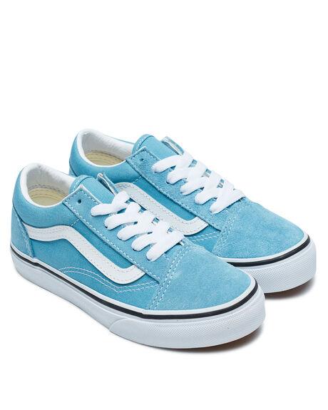 BLUE  WHITE KIDS BOYS VANS SNEAKERS - VNA4BUU33LBLU