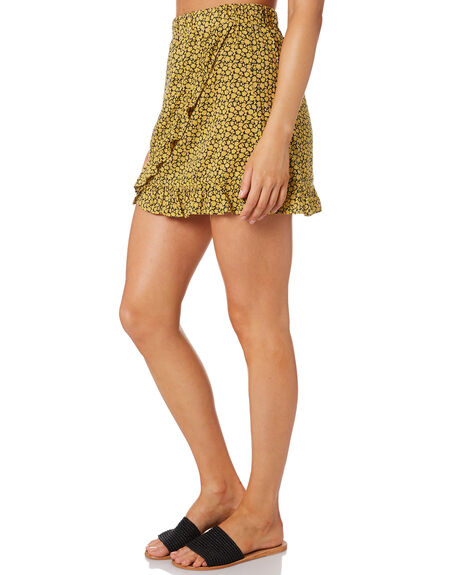 MIMOSA YELLOW OUTLET WOMENS RUSTY SKIRTS - SKL0495MMS