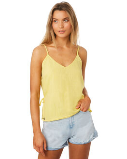 LEMON WOMENS CLOTHING ALL ABOUT EVE FASHION TOPS - 6405073YLW
