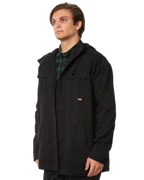 BLACK MENS CLOTHING ZOO YORK JACKETS - ZY-MJA8106BLK