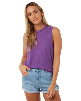 PURPLE WOMENS CLOTHING CAMILLA AND MARC SINGLETS - QCMT6705PURP