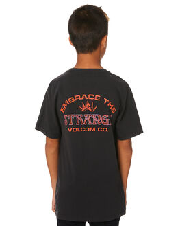 BLACK KIDS BOYS VOLCOM TOPS - C4331973BLK