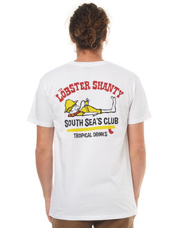 WHITE MENS CLOTHING THE LOBSTER SHANTY TEES - SOUTHSEASWHT