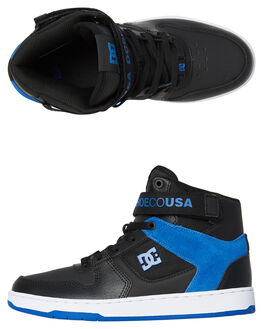 BLACK BLUE WHITE MENS FOOTWEAR DC SHOES SNEAKERS - ADYS400038XKBW