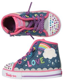 DENIM LIGHTS KIDS TODDLER GIRLS SKECHERS FOOTWEAR - 10874NDMLT
