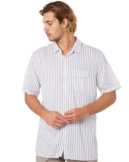 BLACK WHITE MENS CLOTHING ZANEROBE SHIRTS - 300-FLDBKWHT