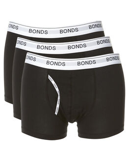 BLACK MENS ACCESSORIES BONDS SOCKS + UNDERWEAR - MZ963A33K