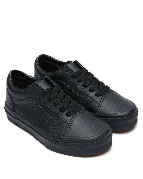 BLACK KIDS BOYS VANS SNEAKERS - VN00W9TL3BBLK