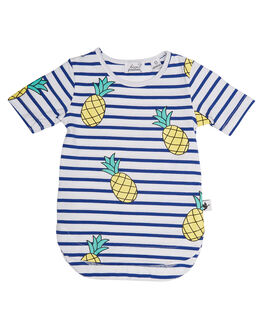 STRIPE KIDS TODDLER GIRLS KISSED BY RADICOOL DRESSES - KR0626STRP
