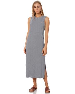NAVY STRIPE WOMENS CLOTHING ELWOOD DRESSES - W93717JF6