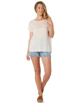 VINTAGE WHITE WOMENS CLOTHING ALL ABOUT EVE TEES - 6423016VWHI