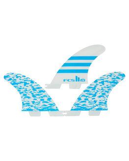 BLUE WHITE BOARDSPORTS SURF FCS FINS - FJWG-PC01-XS-TS-RBLU