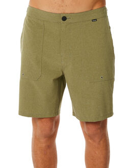 OLIVE CANVAS MENS CLOTHING HURLEY SHORTS - AJ2629395