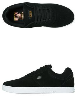 BLACK WHITE MENS FOOTWEAR ETNIES SKATE SHOES - 4101000484979