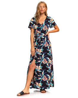 ANTHRACITE TROPIC WOMENS CLOTHING ROXY DRESSES - ERJWD03424-KVJ7