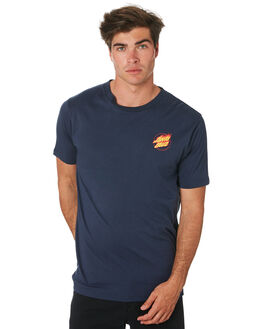 NAVY MENS CLOTHING SANTA CRUZ TEES - SC-MTC9266NAVY