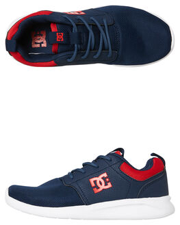 NAVY RED KIDS BOYS DC SHOES SNEAKERS - ADBS700059NRD