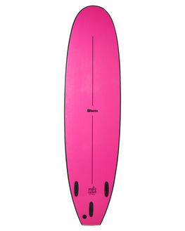 BLACK FLURO PINK BOARDSPORTS SURF FOAMIE SOFTBOARDS - F7BLACKBKFPNK