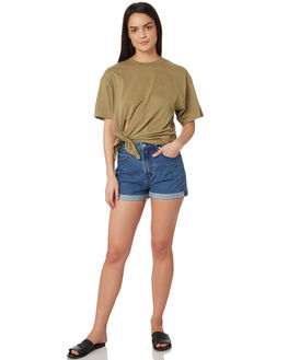 TAN WOMENS CLOTHING SILENT THEORY TEES - 6022030TAN