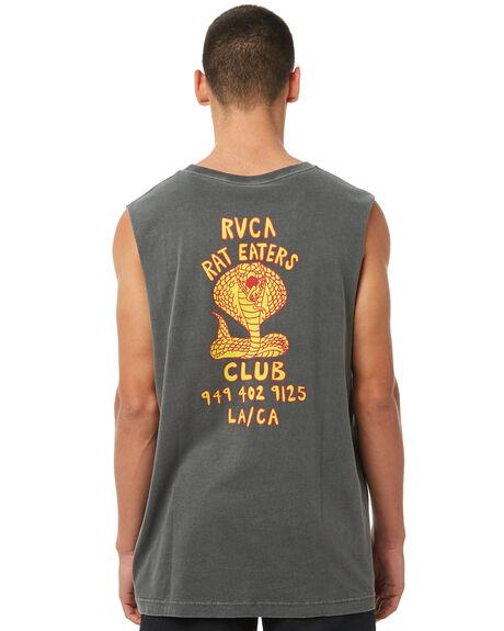 BLACK OUTLET MENS RVCA SINGLETS - R181009BLK