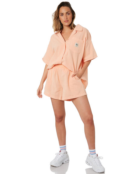 PEACH OUTLET WOMENS STUSSY SHORTS - ST102607PCH