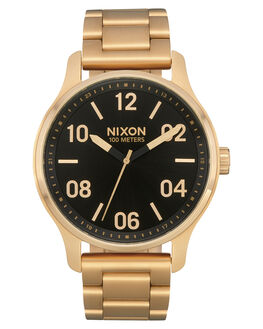 GOLD BLACK MENS ACCESSORIES NIXON WATCHES - A1242513